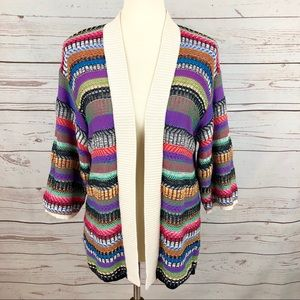 Anthropologie Maeve Colorful Knit Cardigan Sweater